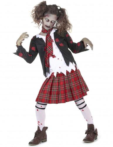 Costume scolaretta zombie bambina
