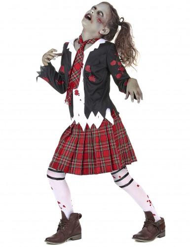 Costume scolaretta zombie bambina-1