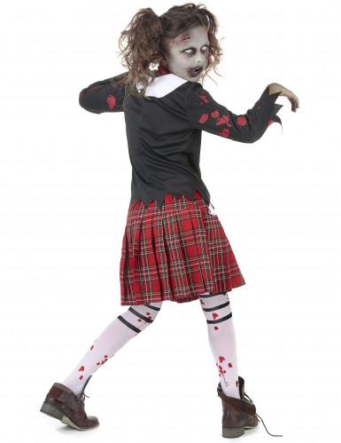 Costume scolaretta zombie bambina-2
