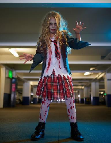 Costume scolaretta zombie bambina-3