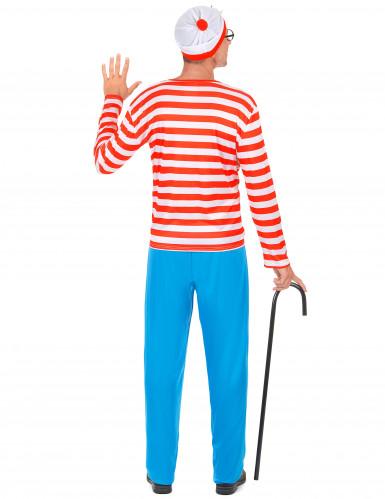 Costume da turista a righe bianche e rosse-2