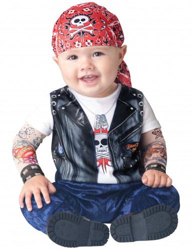 Costume da motociclista per neonato - Classico