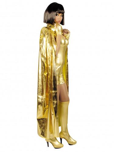 Mantello con collo color oro 135 cm adulto