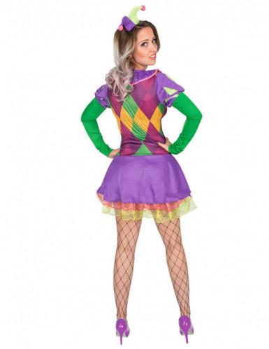 Costume da giullare viola donna-2