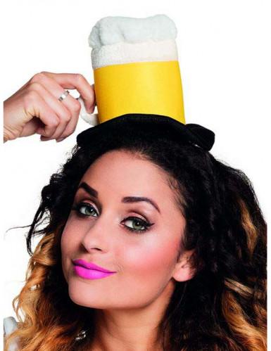 Mini cappello pinta di birra per adulto