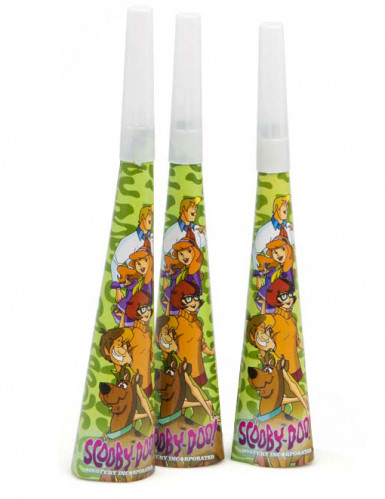 4 trombette da festa 20 cm Scooby-Doo™