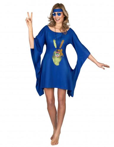 Costume hippie blu da donna