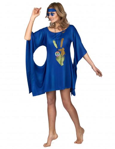 Costume hippie blu da donna-1