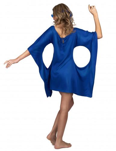 Costume hippie blu da donna-2