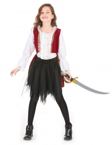 Costume da piratessa in velluto per bambina-1