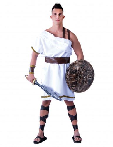 Costume spartano bianco Adulto