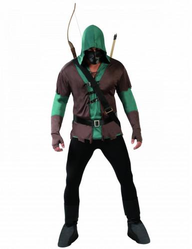 Costume arciere mascherato adulto