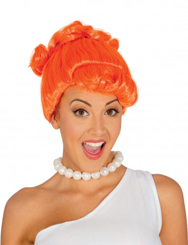 Parrucca arancione adulta di Wilma dei Flintstones