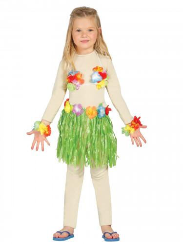 Kit hawaiana verde bambina