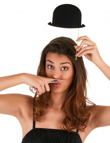 6 cappellini bombetta neri per photobooth-2