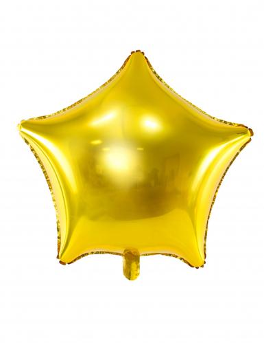 pallone alluminio stella dorata 45 cm