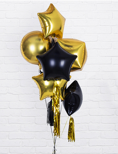 pallone alluminio stella dorata 45 cm-1