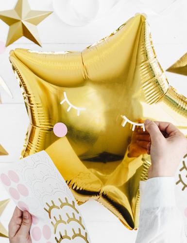 pallone alluminio stella dorata 45 cm-2