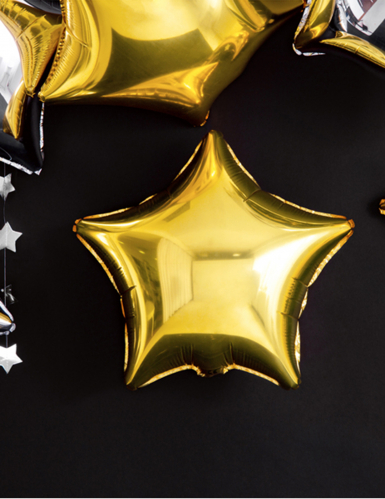 pallone alluminio stella dorata 45 cm-4