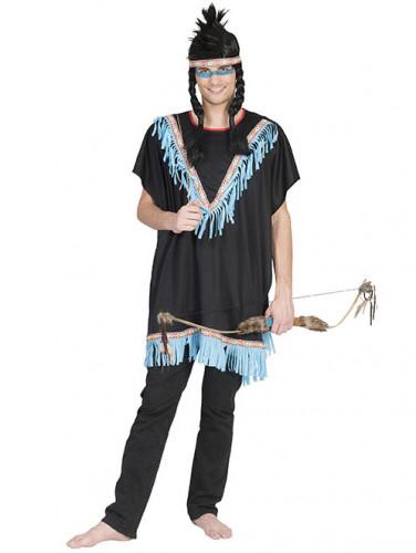 Costume indiano a frange blu Adulto