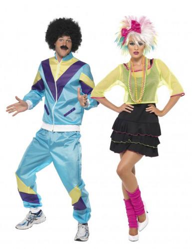 free shipping 8faf3 e17f1 Costume coppia anni '80 adulti