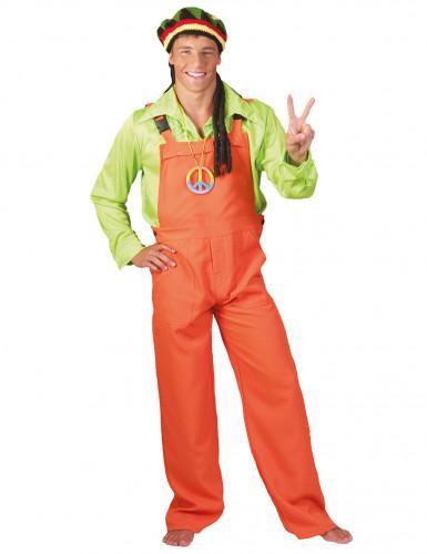 Costume tuta arancione fluorescente adulto