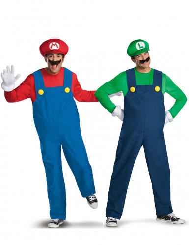 Costume da coppia Mario™ e Luigi™ adulta