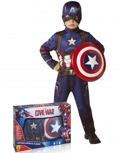 Cofanetto costume Capitan America™ con scudo - Avengers™ per bambino