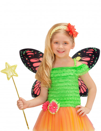 Ali di farfalla colorate ragazza-1