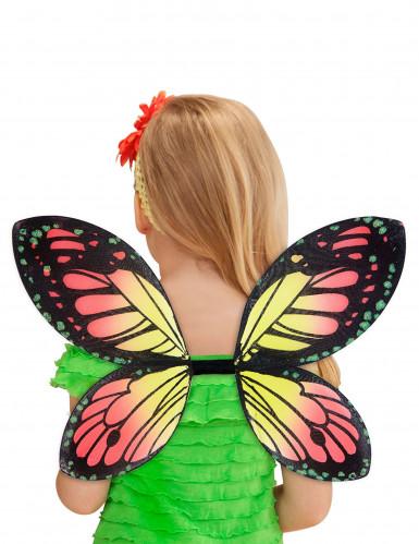 Ali di farfalla colorate ragazza-2