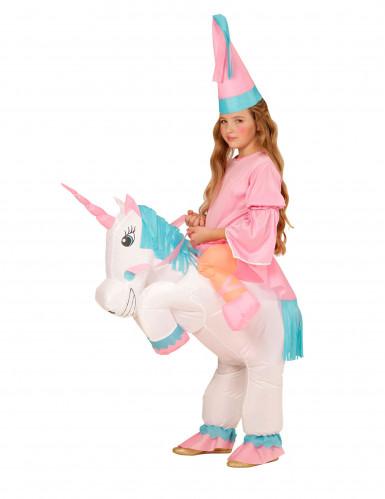 Costume da principessa con unicorno bambina-2