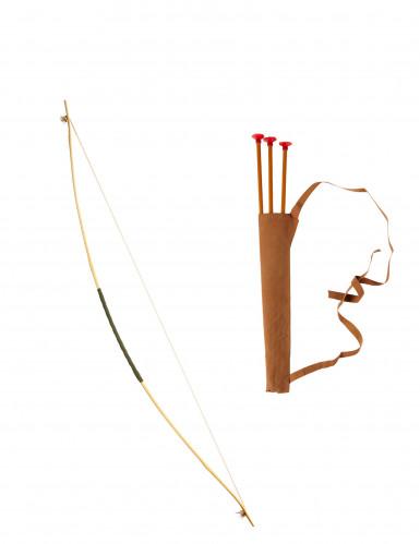Arco con fodero e freccette 100 cm