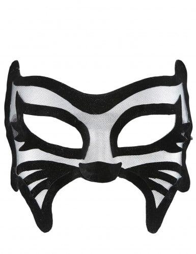 Mascherina gatto nero sexy donna-1