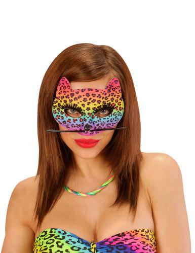 Maschera leopardata multicolore da donna