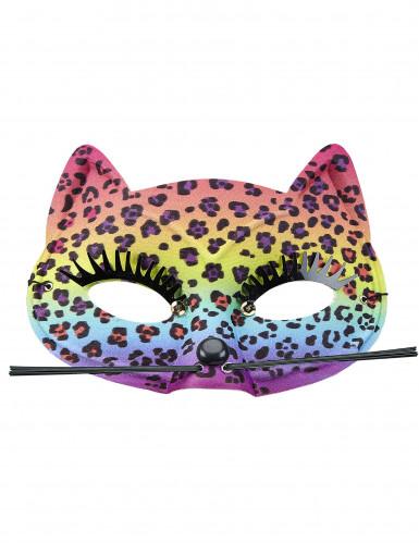 Maschera leopardata multicolore da donna-1