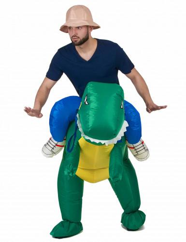 Costume da esploratore sul dorso di un dinosauro per adulto-1