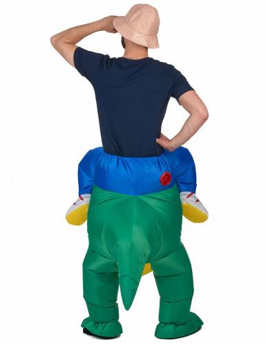 Costume da esploratore sul dorso di un dinosauro per adulto-2