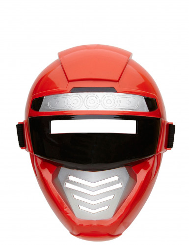 Mezza maschera power robot rosso bambino-1