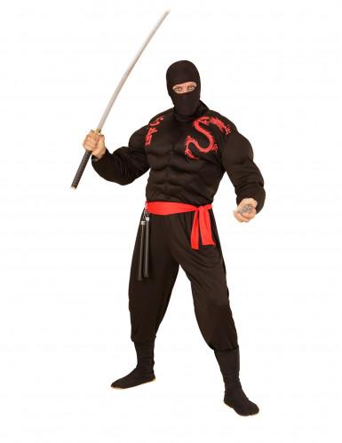 Passamontagna ninja nero adulto-1
