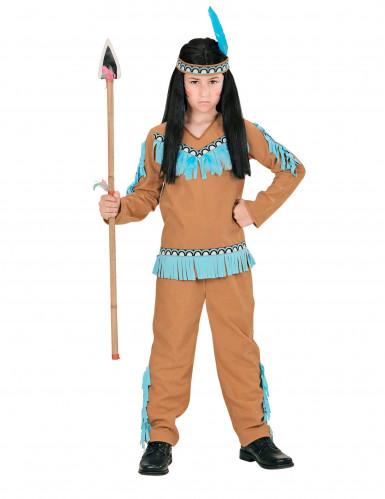 Costume indiano marrone e blu bambino-1