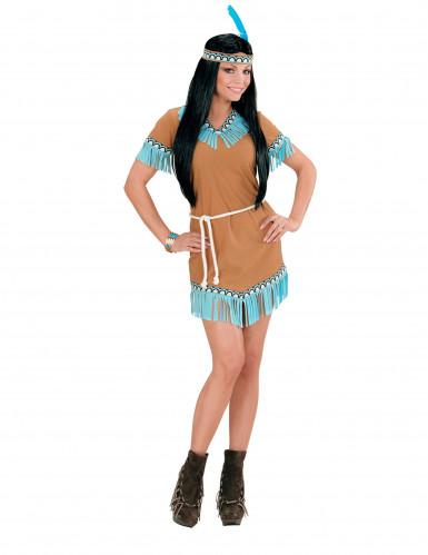 Costume indiana marrone e blu Donna-1