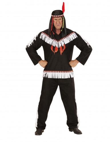 Costume indiano bianco e nero uomo-1