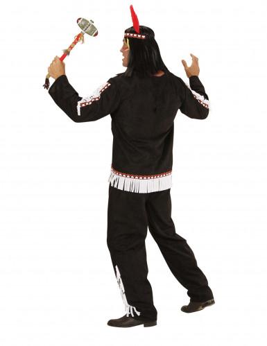 Costume indiano bianco e nero uomo-2