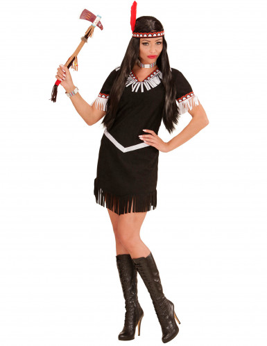 Costume indiana nera e bianca Donna