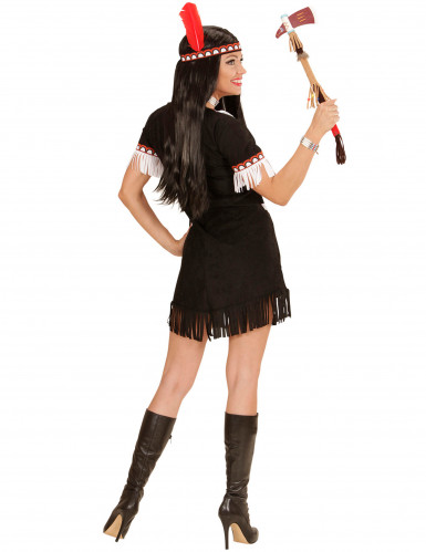 Costume indiana nera e bianca Donna-2