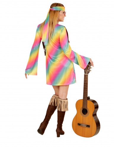 Costume hippie multicolore Donna-2