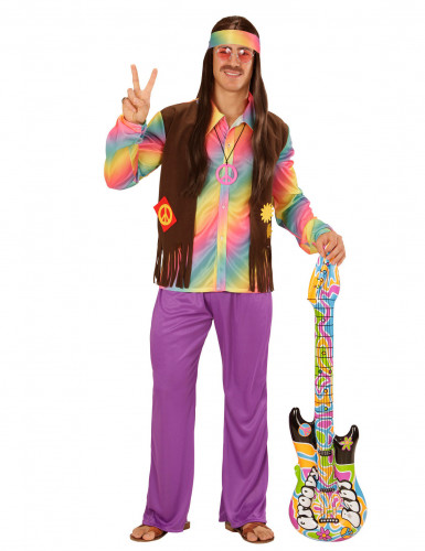 Costume da hippie multicolore per uomo