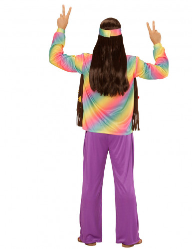 Costume da hippie multicolore per uomo-1