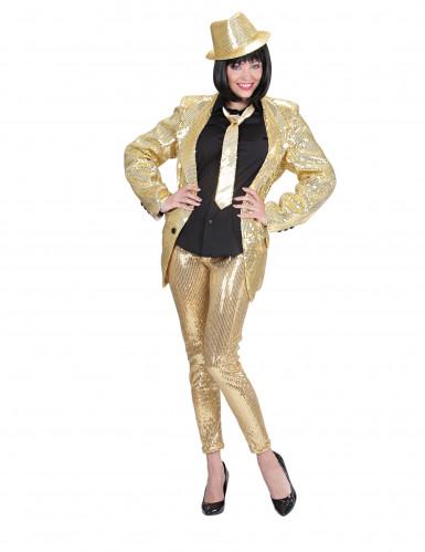 Leggings strass dorati Donna