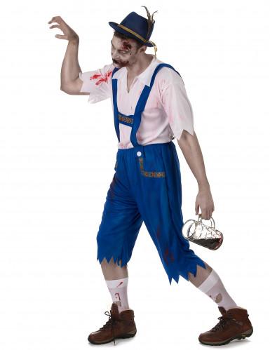 Costume bavarese zombie blu da uomo-1